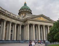 St Petersburg, Rusia - 10 de septiembre de 2017: Catedral de Kazán en St Petersburg, Rusia Fotografía de archivo libre de regalías