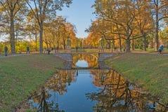 St Petersburg, Rusia, el 21 de octubre de 2015: Otoño de oro, Alexand Fotografía de archivo libre de regalías