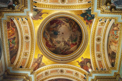 St Petersburg, Rusia, interior del St Isaac Cathedral Foto de archivo