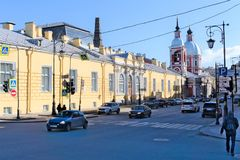St. Petersburg, Rusland, April 2019 E royalty-vrije stock afbeelding