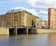 St. Petersburg, brug Pikalov stock afbeeldingen