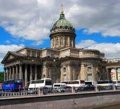 St. Petersburg, Rusland - Juni 4, 2016: Kazan Kathedraal Gevestigd op Kanaal Griboyedov Royalty-vrije Stock Foto