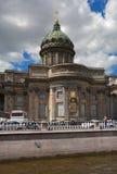 St. Petersburg, Rusland - Juni 4, 2016: Kazan Kathedraal Gevestigd op Kanaal Griboyedov Stock Foto's