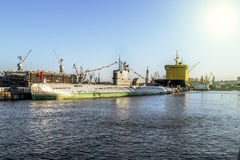 St Petersburg Rusland 03 kunnen 2015 meningen van onderzeeër s-189 Royalty-vrije Stock Afbeeldingen
