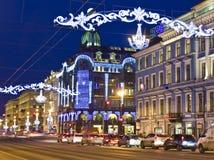 St. Petersburg, Rusland, Nevskiy prospectusstraat Stock Foto
