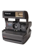 ST PETERSBURG, RUSLAND - Septembe 01, 2015: Polaroidcamera Één Stap Dichte omhoog Film 600 Royalty-vrije Stock Foto's