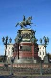 St. Petersburg, Rusland, 10 September, 2012 Het monument aan de Keizer Nicholas 1 in St. Petersburg Royalty-vrije Stock Fotografie