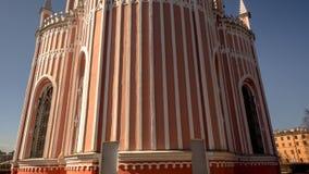 Chesme Gothic church.  Church of St John the Baptist Chesme Palace in Saint Petersburg,. St. Petersburg, Russia – April 10, 2018 : Chesme Gothic church Stock Photos