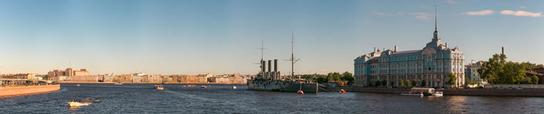 St. Petersburg, Russia - 28 June 2017: Cruiser Aurora, Ship Museum In St. Petersburg. Royalty Free Stock Photos