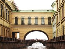 St. Petersburg, Russia. View on channel and bridge Royalty Free Stock Photo