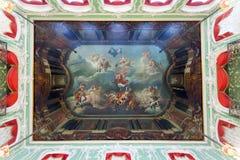 Soffitto Frescoed nel palazzo di Stroganov fotografia stock