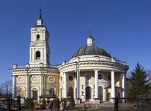 ST. PETERSBURG, RUSSIA - APRIL 18, 2015: Photo of Church of the Svyatógo Proróka Elijah on a powder. Stock Image