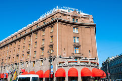 St Petersburg, Russia, Astoria hotel - main facade view Royalty Free Stock Image