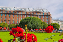 St Petersburg, Russia, Astoria hotel - main facade view Royalty Free Stock Images