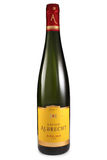 ST. PETERSBURG, RUSSIA - August 30, 2015: Bottle of Lucien Albrecht, Riesling Reserve, Alsace, France, 2012 royalty free stock photo