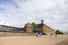 Fortification structures of the Peter and Paul Fortress in St. Petersburg stock photos
