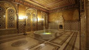 Moorish lounge of Yusupov palace in St. Petersburg, Russia stock video