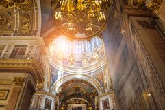 Interior of the St Isaac Cathedral, St Petersburg, Russia Stock Image