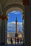 St. Petersburg, Russia - 14 AUGUST 2016 Main entrance and gate into the courtyard of the Hermitage royalty free stock photo