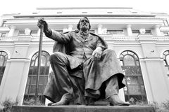 Monument of Ivan Turgenev in Saint Petersburg. Royalty Free Stock Photography
