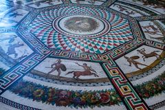 ST. PETERSBURG, RUSSIA - AUGUST, 2015: Mosaic on floor of Hermitage Stock Photography