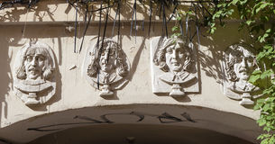 ST. PETERSBURG, RUSSIA -  AUGUST 31, 2015: Photo of  Bas-relief the Beatles. Stock Photos