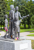 ST. PETERSBURG, RUSSIA - AUGUST 02, 2016: Photo of Monument Children of War. Saint-Petersburg, Russia - August 2, 2016: The sculpture depicts five children royalty free stock images