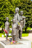ST. PETERSBURG, RUSSIA - AUGUST 02, 2016: Photo of Monument Children of War. Saint-Petersburg, Russia - August 2, 2016: The sculpture depicts five children royalty free stock photos