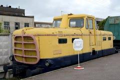 ST petersburg Russia Austriaccy lokomotoryczni elektrowni TGE-016 koszty przy platformą Obraz Stock