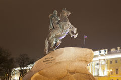 St. Petersburg, Russia. Bronze Horseman Stock Photography