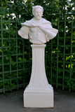 ST. PETERSBURG, RUSSIA. A bust Jan Sobesky, the Polish king in the Summer garden Royalty Free Stock Photos