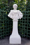 ST. PETERSBURG, RUSSIA. A bust Maria  Kazimira, Jan Sobesky's wife in the Summer garden Stock Photos