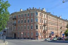 ST petersburg russia Byggnad av museumlägenheten av poeten Alexander Blok Royaltyfri Foto