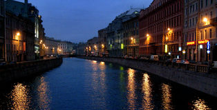 St. Petersburg, Russia Canals in Winter Stock Photos