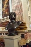 St Petersburg, Russia Cattedrale di Kazanskiy Busto scultoreo di Auguste Montferrand - architetto famoso immagini stock