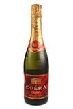 ST. PETERSBURG, RUSSIA - December 05, 2015: Bottle of Opera Blanc de Blancs Doux, France stock photography