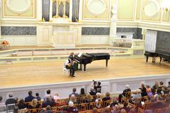 Musical concert in main hall of the State Academic Chapel. Stock Images
