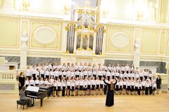 Musical concert in main hall of the State Academic Chapel. Stock Image