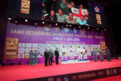 Award ceremony of Judo World Masters 2017 royalty free stock images
