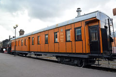 ST. PETERSBURG, RUSSIA. The eight-wheel car Ok 7580 costs at the platform Stock Photo