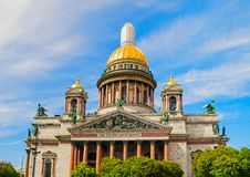 St Petersburg, Russia, facade view of St Isaac Cathedral Stock Images