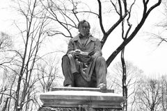 Monument to Ivan Krylov in the Summer Garden. Stock Image