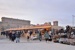 Shopping arcades at the carnival in the Moscow area Stock Images