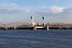 St. Petersburg. Russia. Finland Railway Bridge. Stock Photos