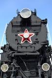 ST petersburg russia Fragment av motorn för last LV-18, främre sikt Royaltyfria Bilder