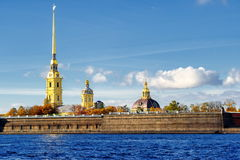St Petersburg, Russia. Golden spire of Peter and Paul fortress, St Peterburg, Russia Royalty Free Stock Photos