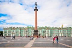 ST. PETERSBURG, RUSSIA - JULY 26, 2015: Alexander Column on Pala Stock Photography