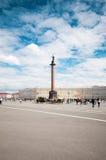 ST. PETERSBURG, RUSSIA - JULY 26, 2015: Alexander Column on Pala Royalty Free Stock Image