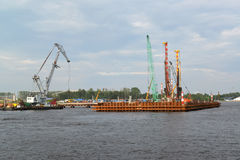ST. PETERSBURG, RUSSIA - JULY 09, 2014: Construction of the moor Stock Photos