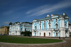 ST. PETERSBURG, RUSSIA - JULY 18, 2009: Front buildings of the Smolny Convent Stock Photos